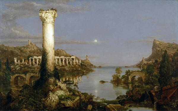 Desolation Painting - The Course Of Empire. Desolation by Thomas Cole