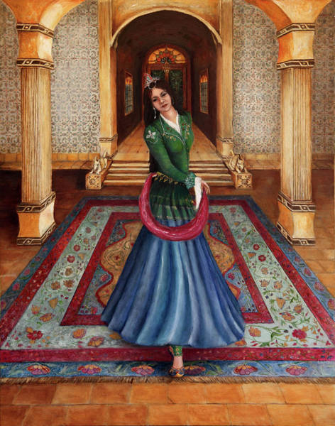 Wall Art - Painting - The Court Dancer by Portraits By NC