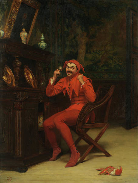Child Actress Painting - The Court Jester by Claude Andrew Calthrop