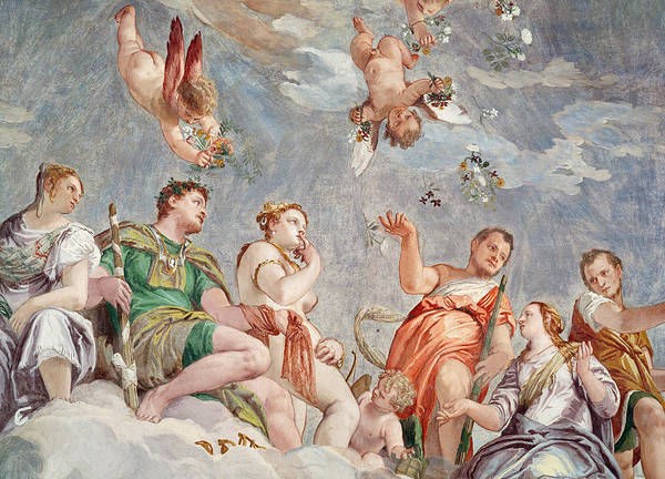 Virtue Painting - The Court Of Love  by Veronese