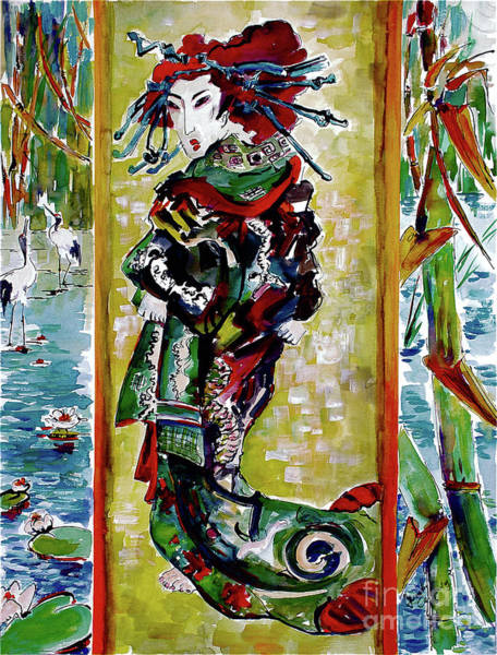 Painting - The Courtesan After Van Gogh After Eisen by Ginette Callaway