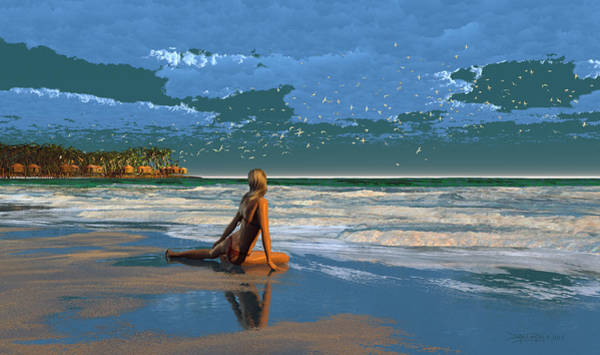 Digital Art - The Courtship Of Sand by Dieter Carlton