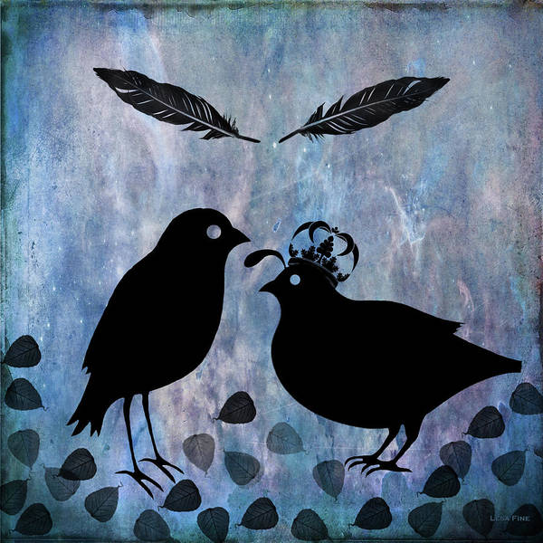 Digital Art - The Courtship Square by Lesa Fine