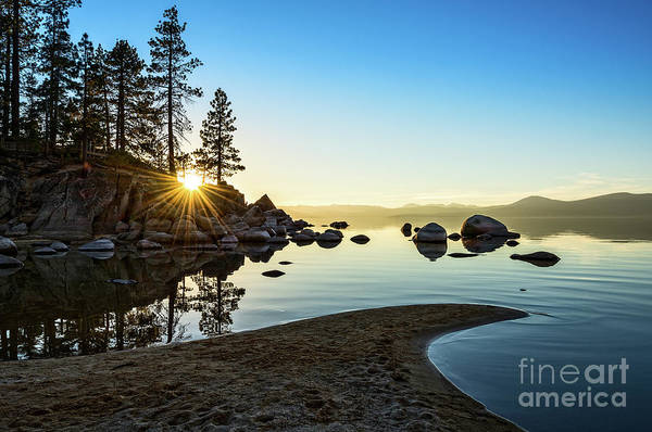 Blue Water Photograph - The Cove At Sand Harbor by Jamie Pham