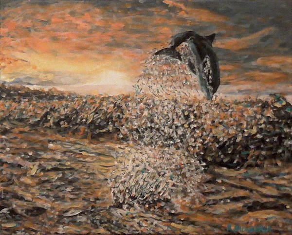 Blackfish Wall Art - Painting - The Cove by Robbie Potter