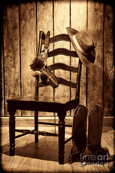 Photograph - The Cowboy Chair by American West Legend By Olivier Le Queinec