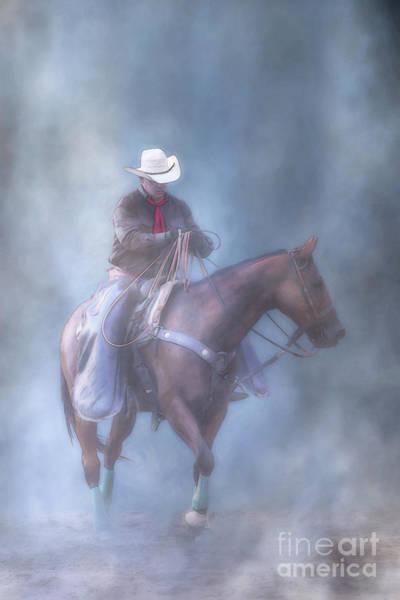 Bucking Bronco Digital Art - The Cowboy Way Vertical Ver Two by Randy Steele