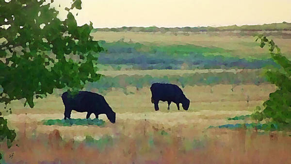 The Cows Next Door Art Print