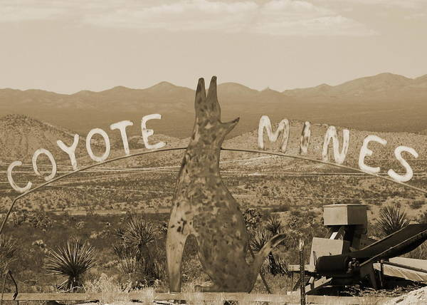 Photograph - The Coyote Mine In Sepia by Colleen Cornelius