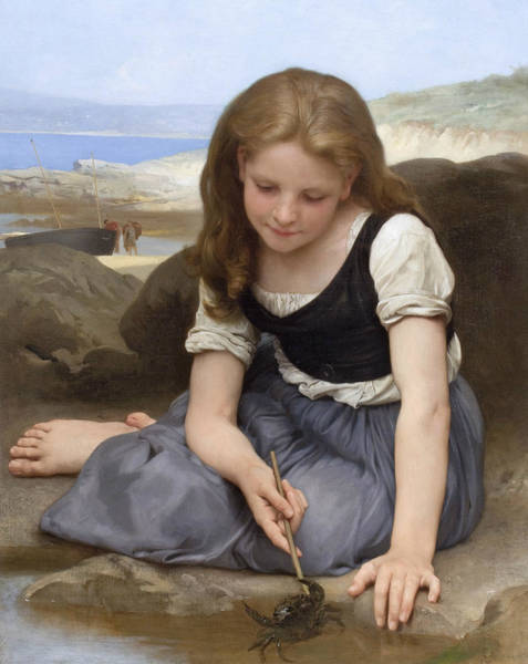 Painting - The Crab by William-Adolphe Bouguereau