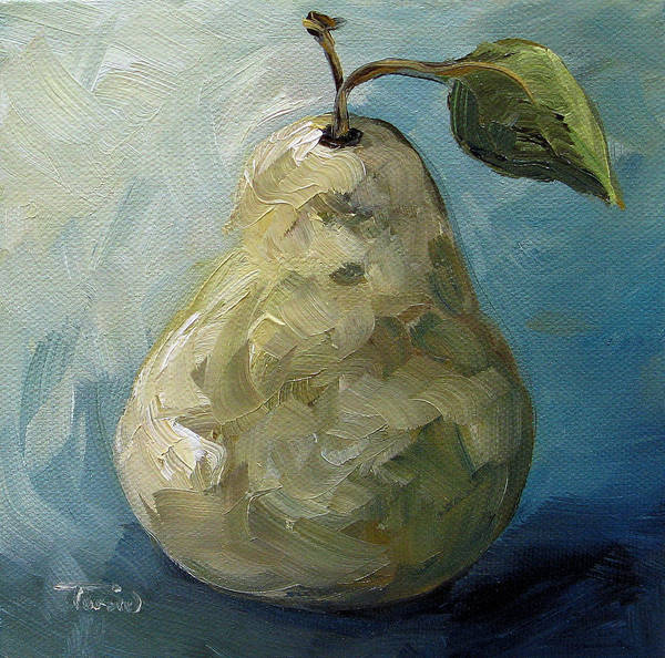 Wall Art - Painting - The Creamy Pear by Torrie Smiley