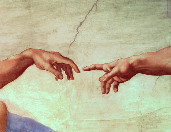 The Creation Of Adam Wall Art - Painting - The Creation Of Adam, Detail by Michelangelo