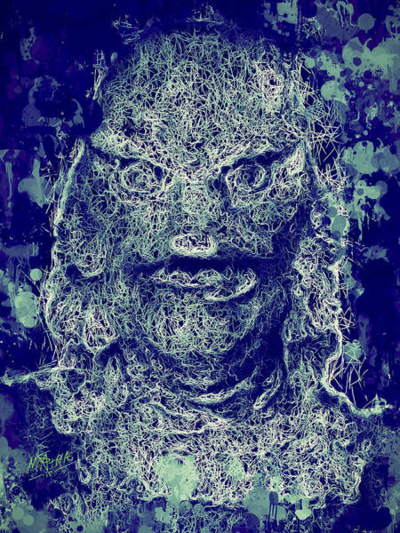 Mixed Media - Creature From The Black Lagoon by Al Matra