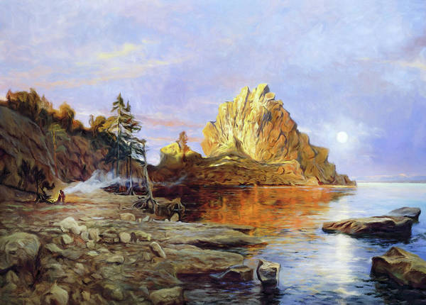 Russian Impressionism Mixed Media - The Crest Of Rock Impressionism by Isabella Howard
