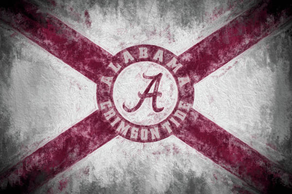 Wall Art - Photograph - The Crimson Tide State Flag by JC Findley