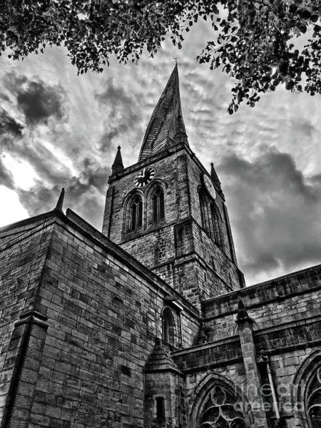 Crook Wall Art - Photograph - The Crooked Spire, Chesterfield, Derbyshire, England by Mary Bassett