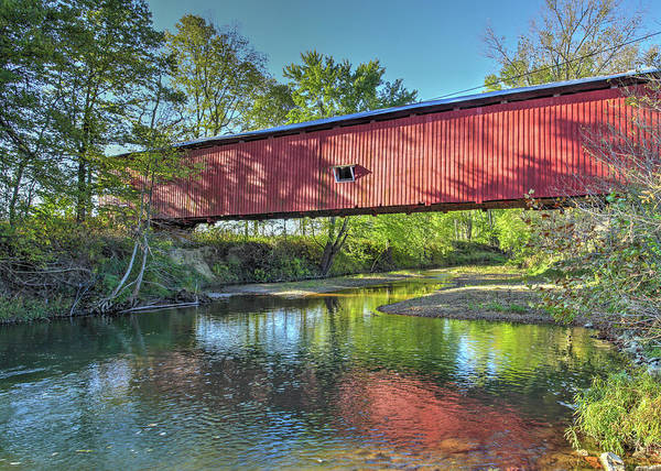 Photograph - The Crooks Covered Bridge - Sideview by Harold Rau