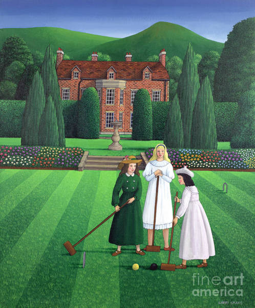 Wall Art - Painting - The Croquet Match by Larry Smart