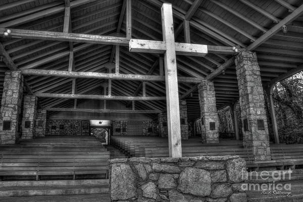 Photograph - The Cross B W Pretty Place Chapel Art by Reid Callaway