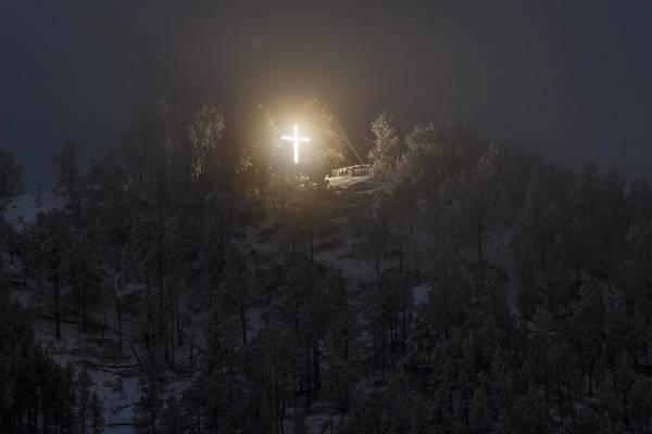 Christian Photograph - The Cross On Sundance Mountain by David M Porter