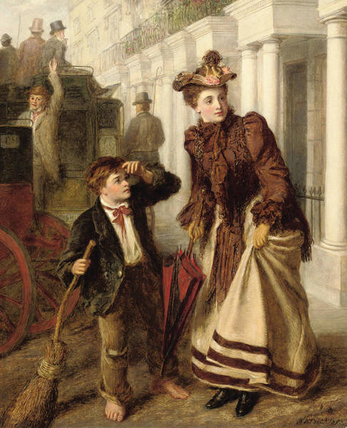 Victorian Era Painting - The Crossing Sweeper by William Powell Frith