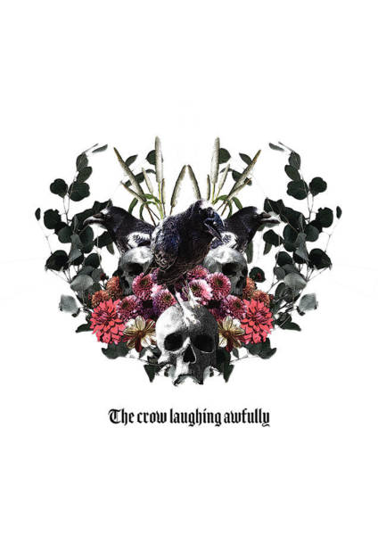 Digital Art - The Crow Laughing Awfully by Arouse Works
