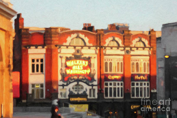 Digital Art - The Crown Hotel Liverpool by Donna L Munro