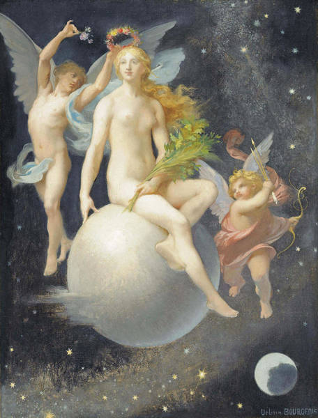Wall Art - Painting - The Crowning Of Venus by Urbain Bourgeois