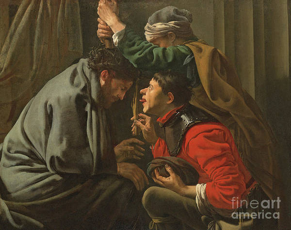 Condemned Wall Art - Painting - The Crowning With Thorns And The Mocking Of Christ by Hendrick Ter Brugghen
