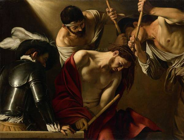 Painting - The Crowning With Thorns by Michangelo Caravaggio