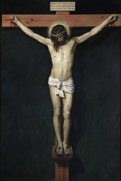 Redeemer Wall Art - Painting - The Crucified Christ by Diego Velazquez
