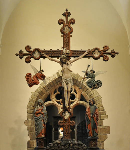 Wall Art - Photograph - The Crucified Christ With The Virgin Mary by Bill Cannon