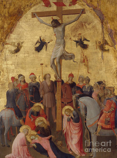 Chest Pain Painting - The Crucifixion By Fra Angelico by Fra Angelico