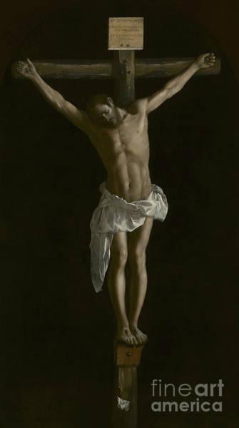 Sacrifice Painting - The Crucifixion by Francisco de Zurbaran
