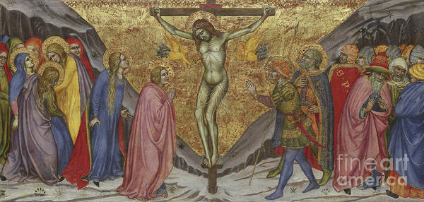 Disciple Wall Art - Painting - The Crucifixion by Taddeo di Bartolo