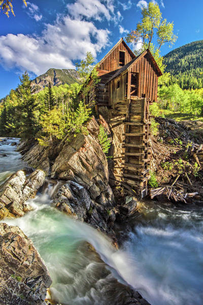 Photograph - The Crystal Mill by Wesley Aston