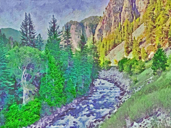 Digital Art - The Crystal River Around Redstone Colorado by Digital Photographic Arts