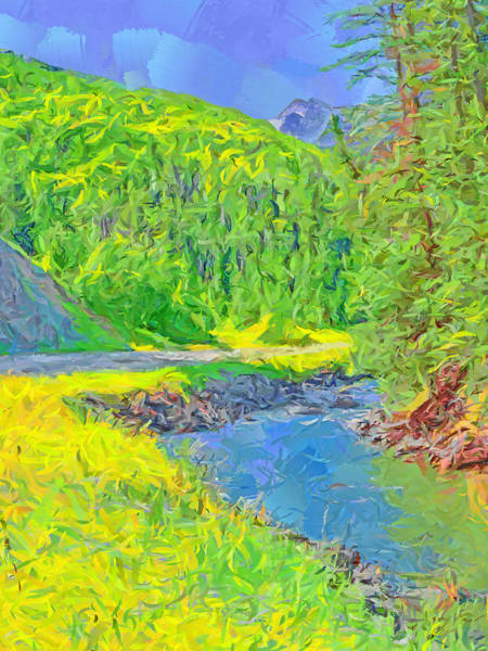 Digital Art - The Crystal River Near Redstone Colorado by Digital Photographic Arts