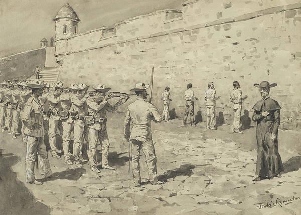 Brigade Drawing - The Cuban Martyrdom by Frederic Remington