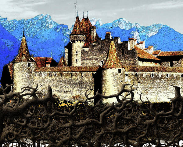 Sleeping Beauty Castle Digital Art - The Cursed Castle by Sarah Whitscell
