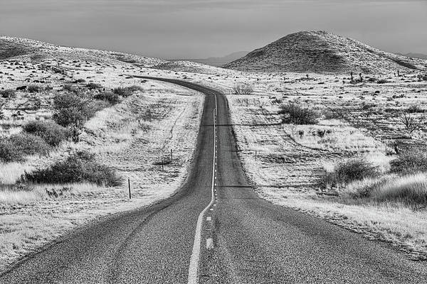Wall Art - Photograph - The Curve Black And White by JC Findley
