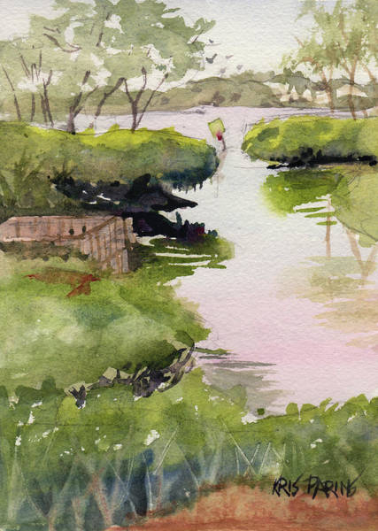 Waterway Painting - The Cut by Kris Parins