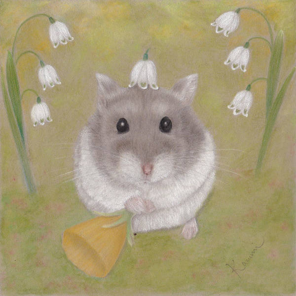 Hamster Drawing - The Cutest Annunciation by Kazumi Haseyama