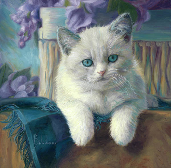 Domestic Cat Wall Art - Painting - The Cutest Of Them All by Lucie Bilodeau
