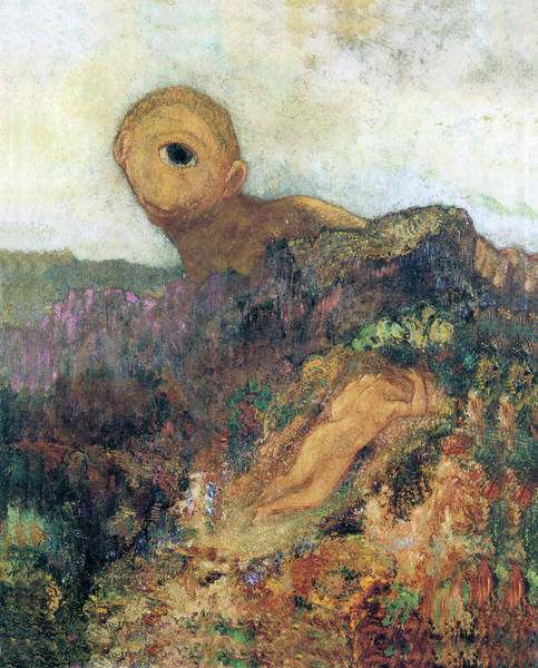 Photograph - The Cyclops by Odilon Redon