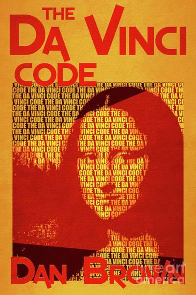 Suspense Digital Art - The Da Vinci Code By Dan Brown Movie Poster Book Cover Art 3 by Nishanth Gopinathan