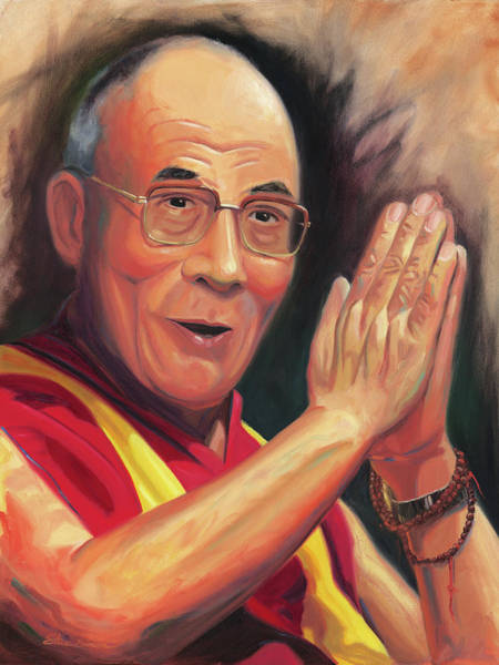 Dalai Lama Wall Art - Painting - The Dalai Lama by Steve Simon