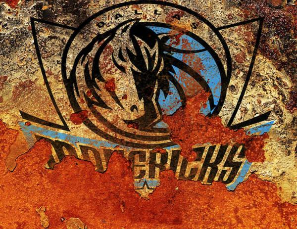 Mavericks Mixed Media - The Dallas Maverics R1 by Brian Reaves