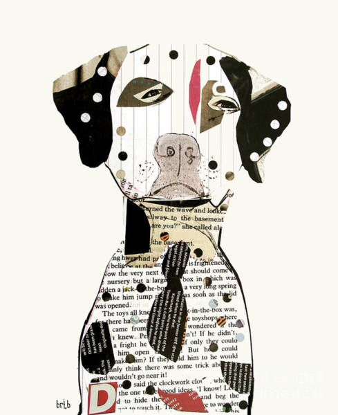 Wall Art - Painting - The Dalmatian Dog  by Bri Buckley