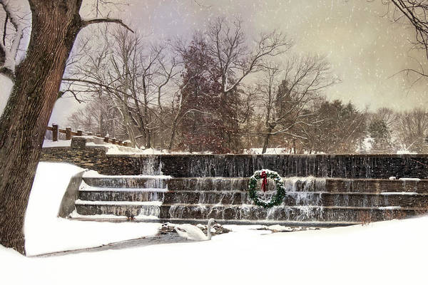 Photograph - The Dam At Christmas by Robin-Lee Vieira